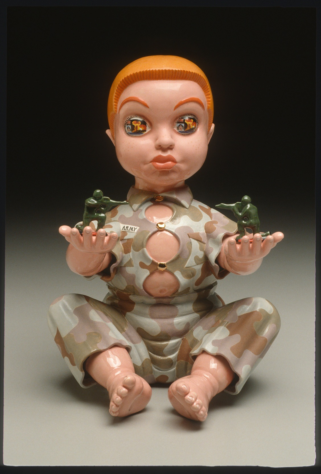 "RUSSELL BILES;""Basic Training (Raw Recruit)"";2003; hand built porcelain; h10""; photo Tim Barnwell."