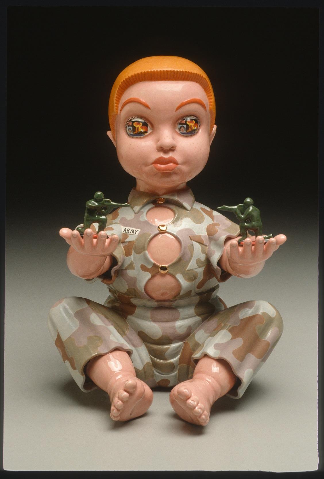 "RUSSELL BILES;""Basic Training (Raw Recruit)"";2003; hand built porcelain; h10""; photo Tim Barnwell."