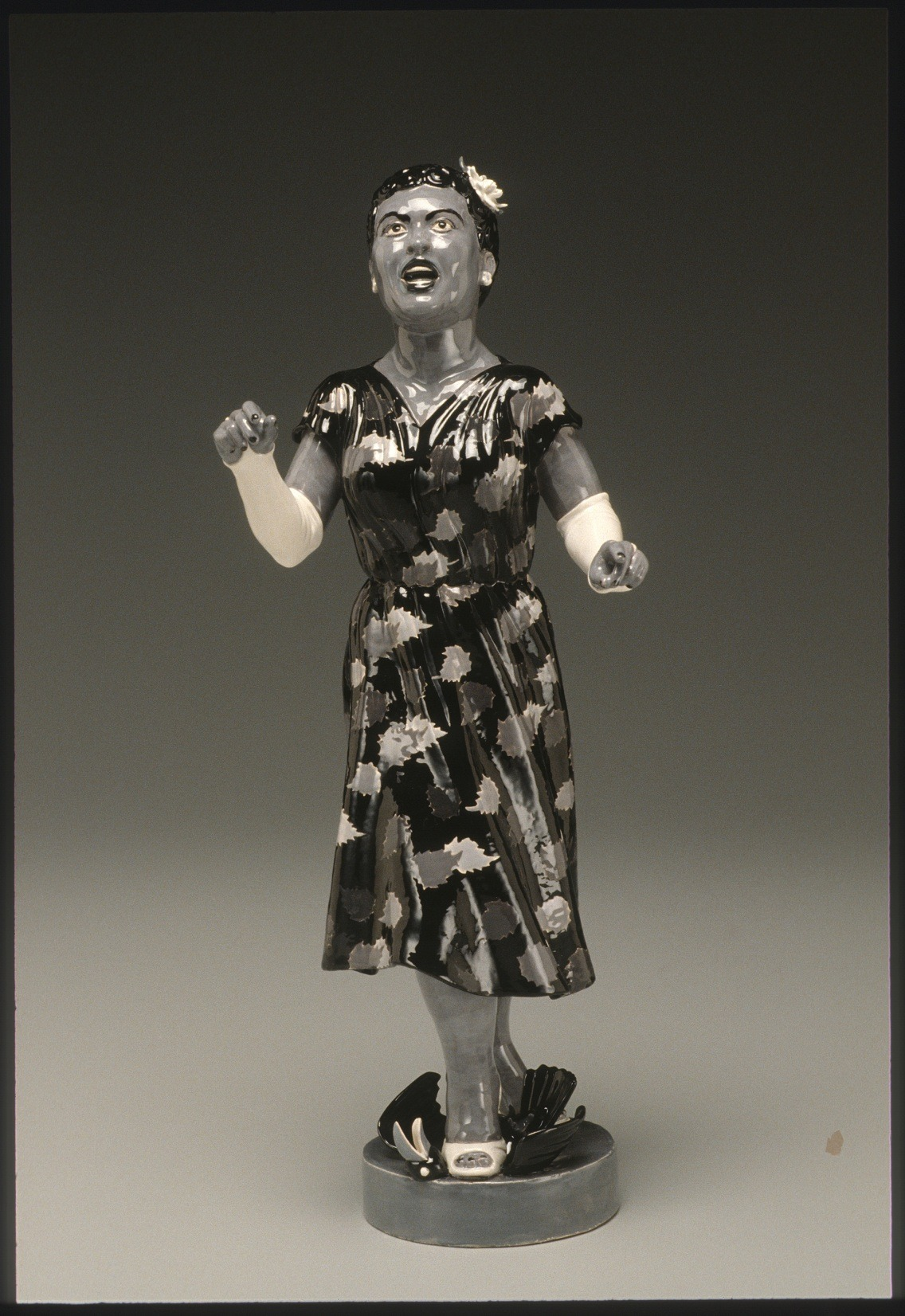 "RUSSELL BILES;"" Ms Billie Holiday""; 1999; hand built earthenware;h9""; photo Tim Barnwell."