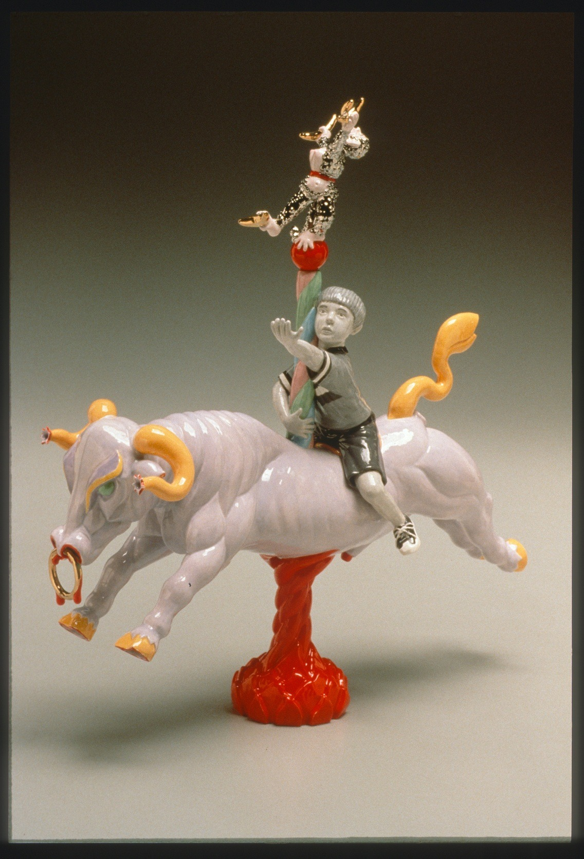 "RUSSELL BILES;""Greed (Seven Deadly Sins)"";2002; hand built earthenware; h11""; photo Tim Barnwell."