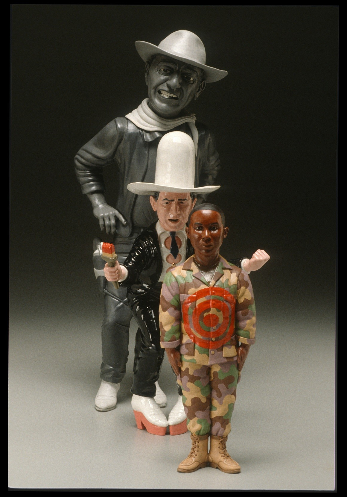 "RUSSELL BILES;"" Hero (Bring It On)""; 2003; hand built porcelain; h24""; photo Tim Barnwell."