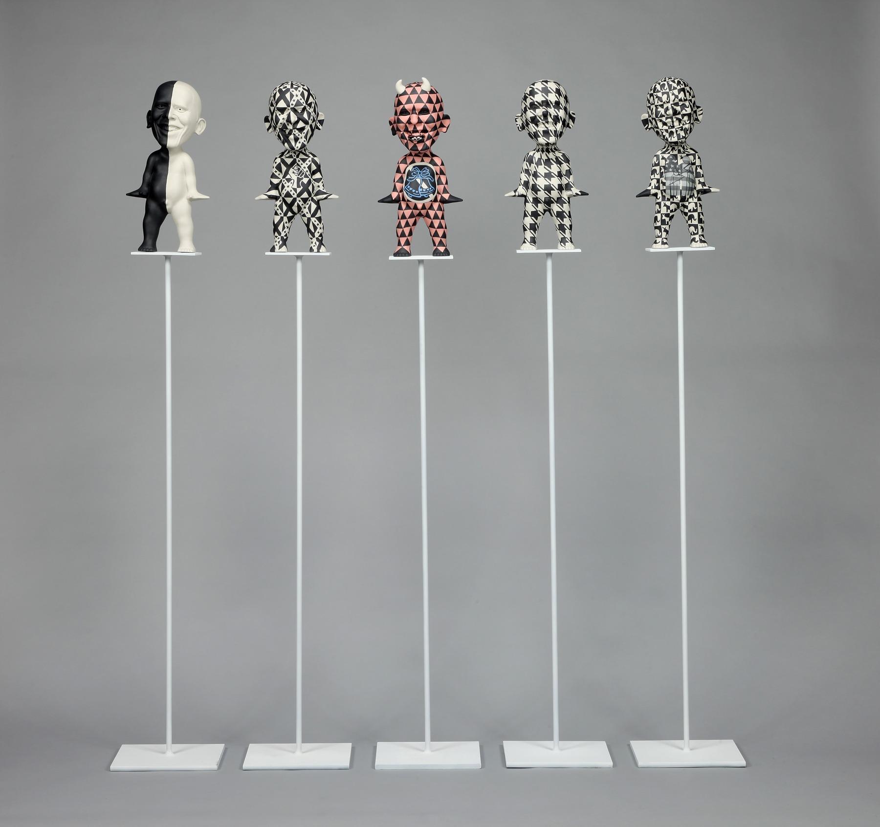 "RUSSELL BILES; ""Forest for the Trees"";2011;slip cast porcelain steel; 5.5'; photo Tim Barnwell."
