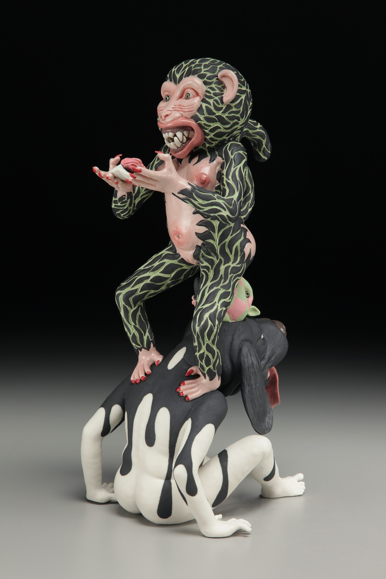 "RUSSELL BILES;""Nuts"";2015;hand built porcelain;H9""; photo Tim Barnwell."