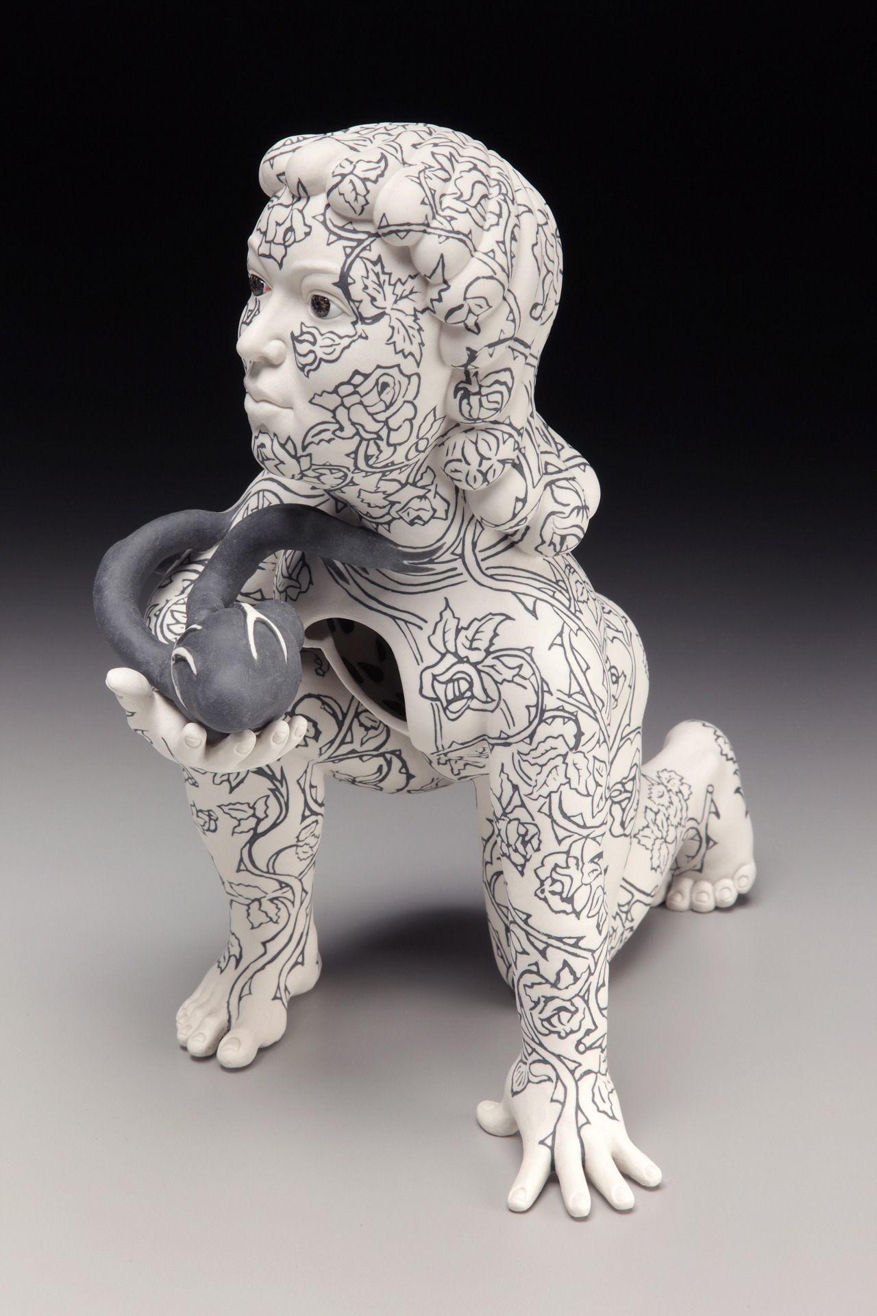"RUSSELL BILES;""Care Giver"";2012; hand built porcelain;h17""; photo Tim Barnwell."