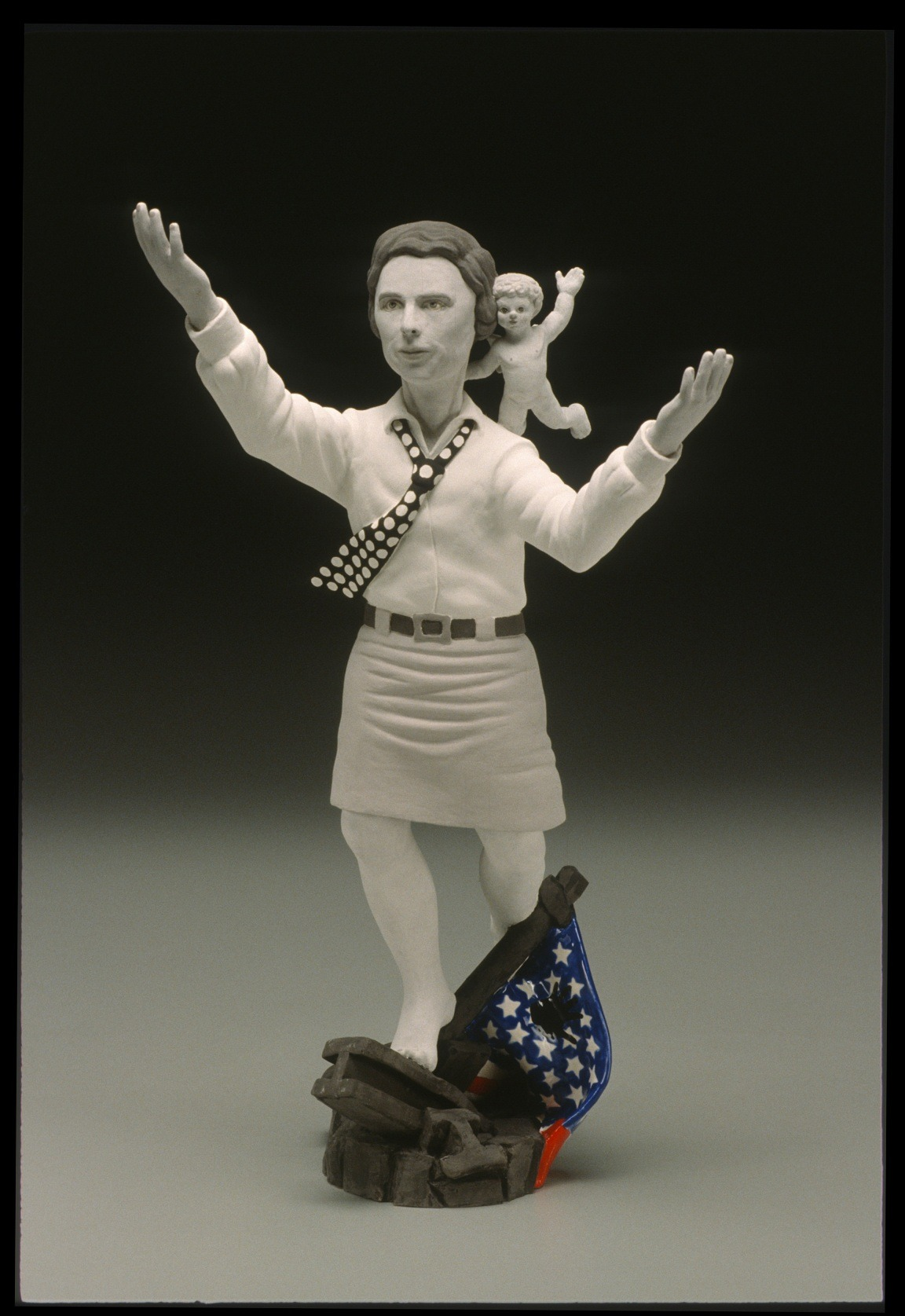 "RUSSELL BILES;"" Miss Jane (Beverly Hillbillies 911);2001-2002; hand built earthenware;h9""; photo Tim Barnwell."
