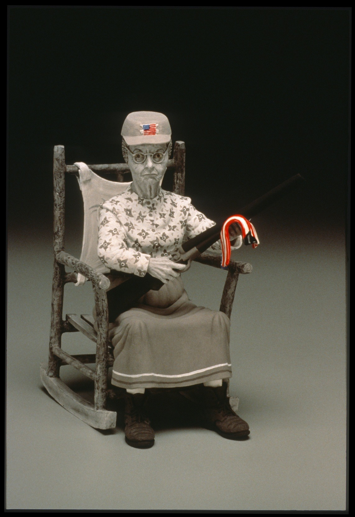 "RUSSELL BILES;"" Granny (Beverly Hillbillies 911);2001-2002; hand built earthenware;h9""; photo Tim Barnwell."