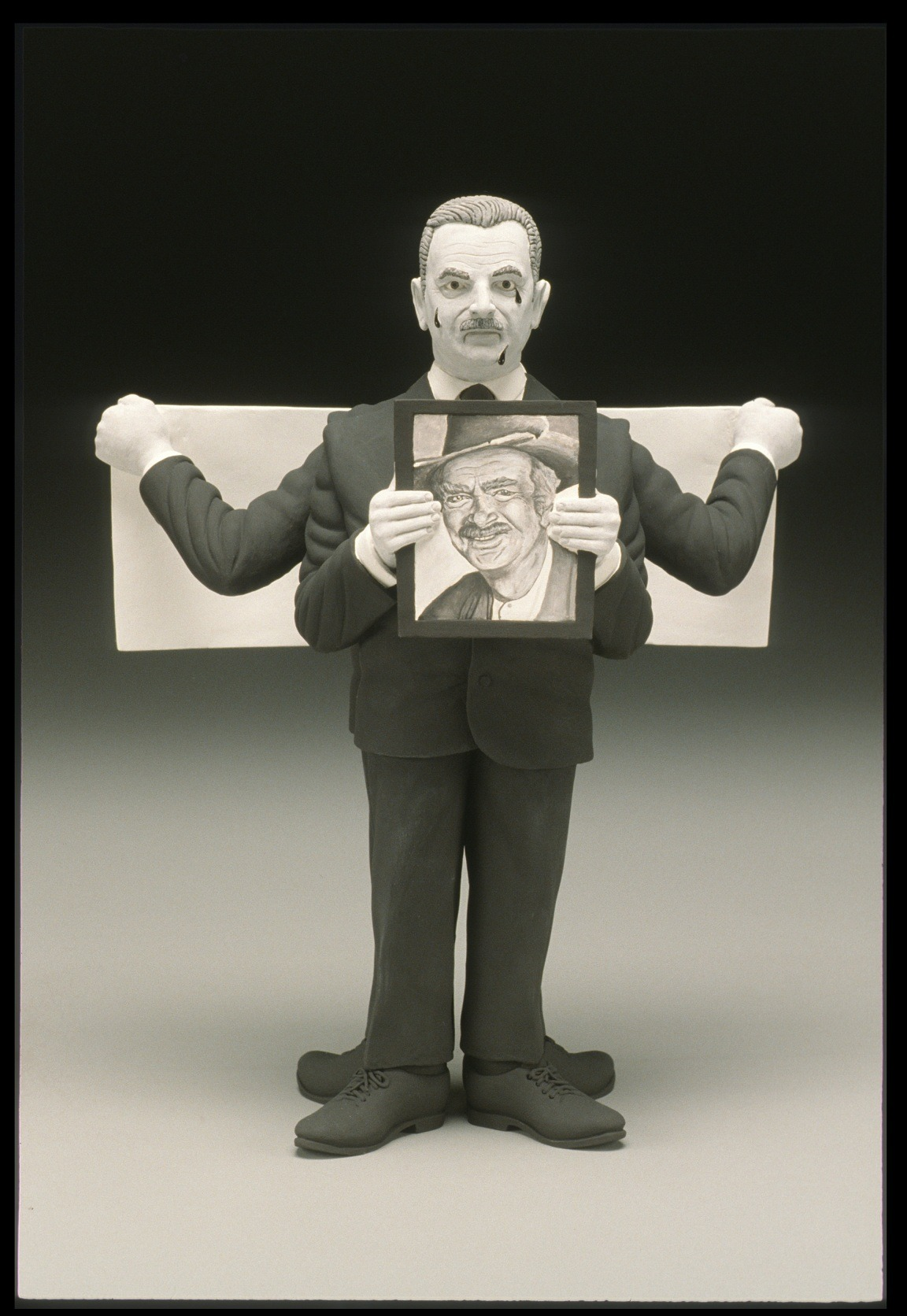 "RUSSELL BILES;"" Banker Drysdale (Beverly Hillbillies 911);2001-2002; hand built earthenware;h9""; photo Tim Barnwell."