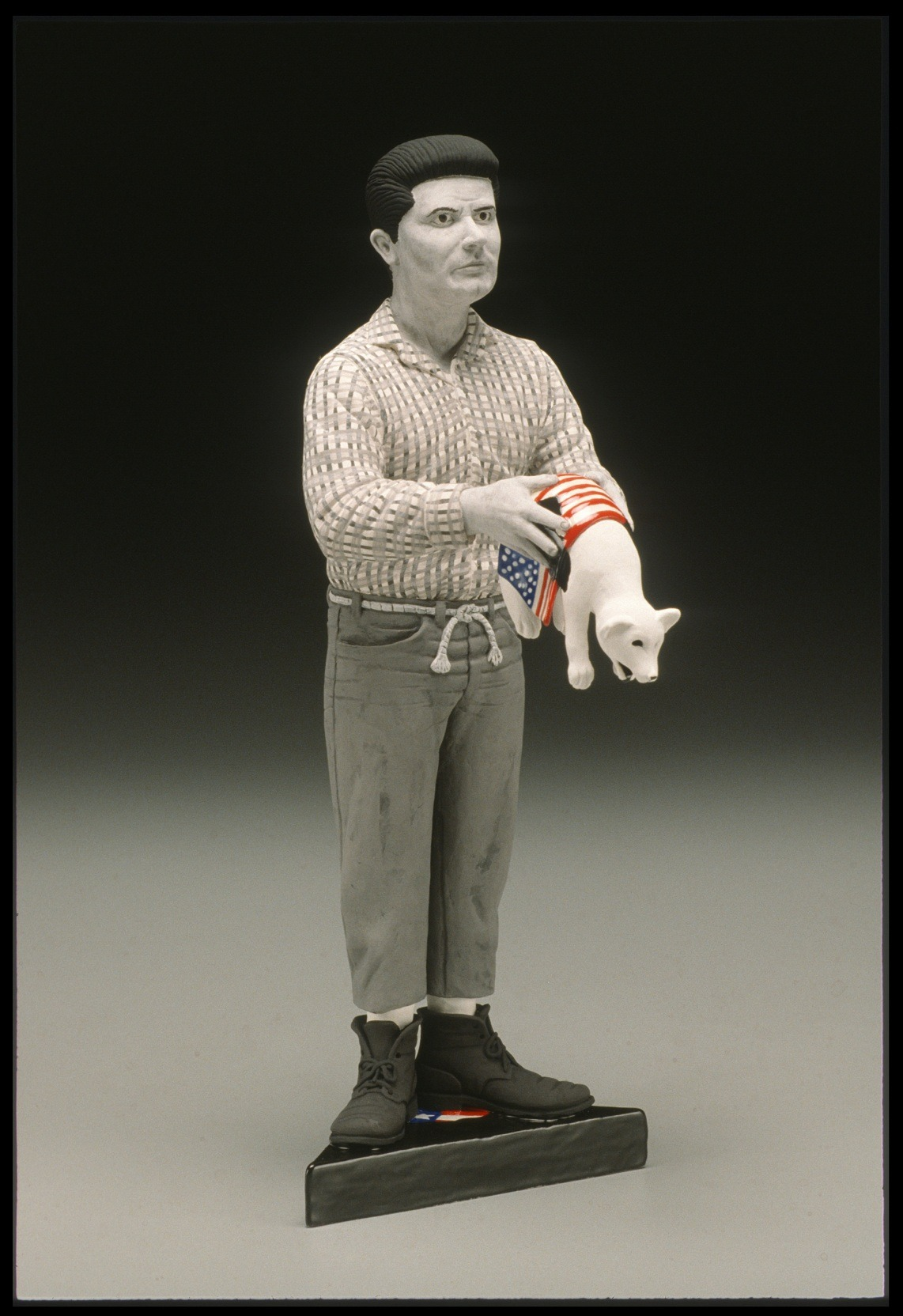 "RUSSELL BILES;"" Jethro (Beverly Hillbillies 911);2001-2002; hand built earthenware;h9""; photo Tim Barnwell."