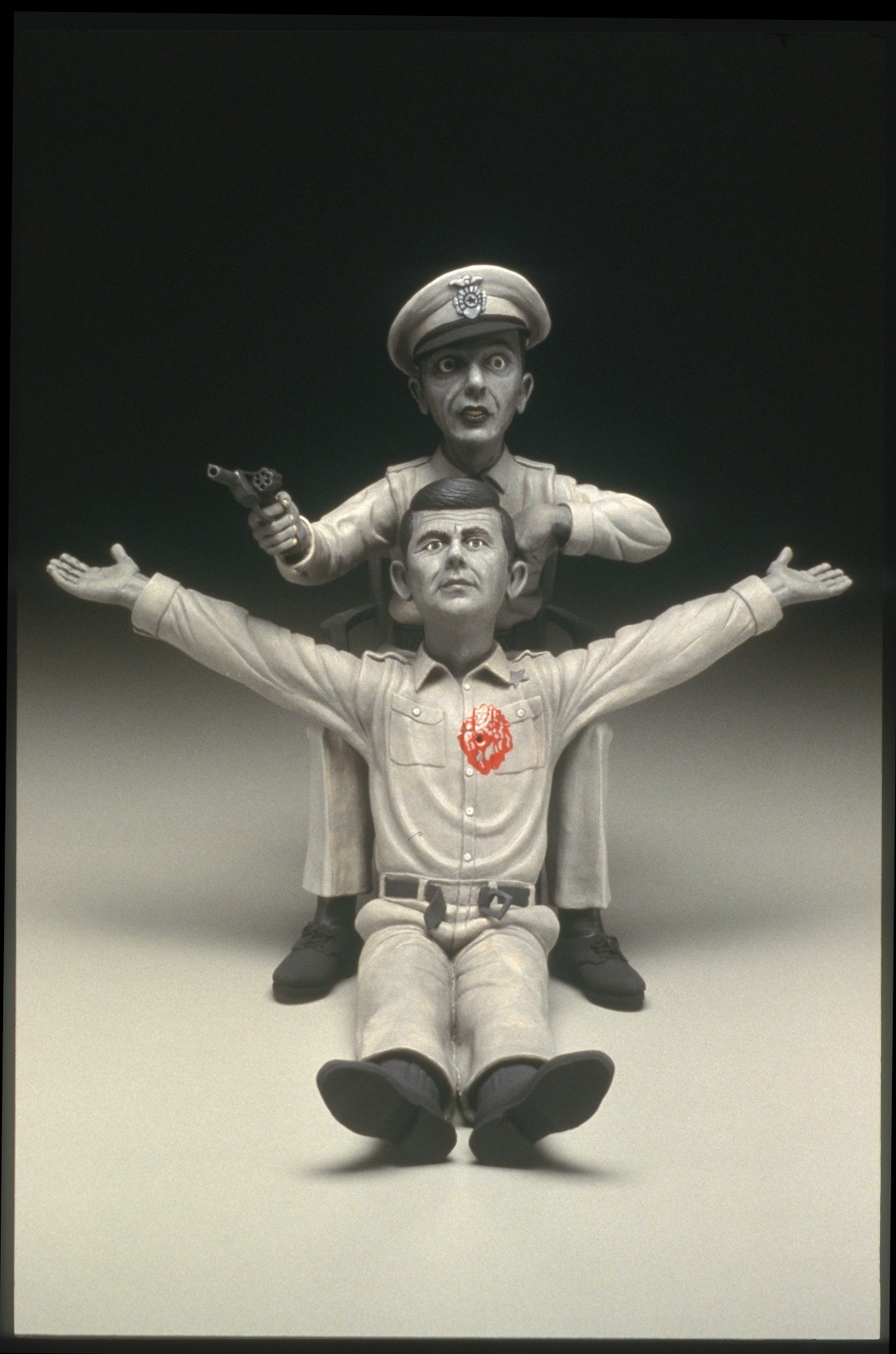 "RUSSELL BILES; ""The Passion of Andy"", 2004; hand built porcelain; h13""; photo Tim Barnwell."