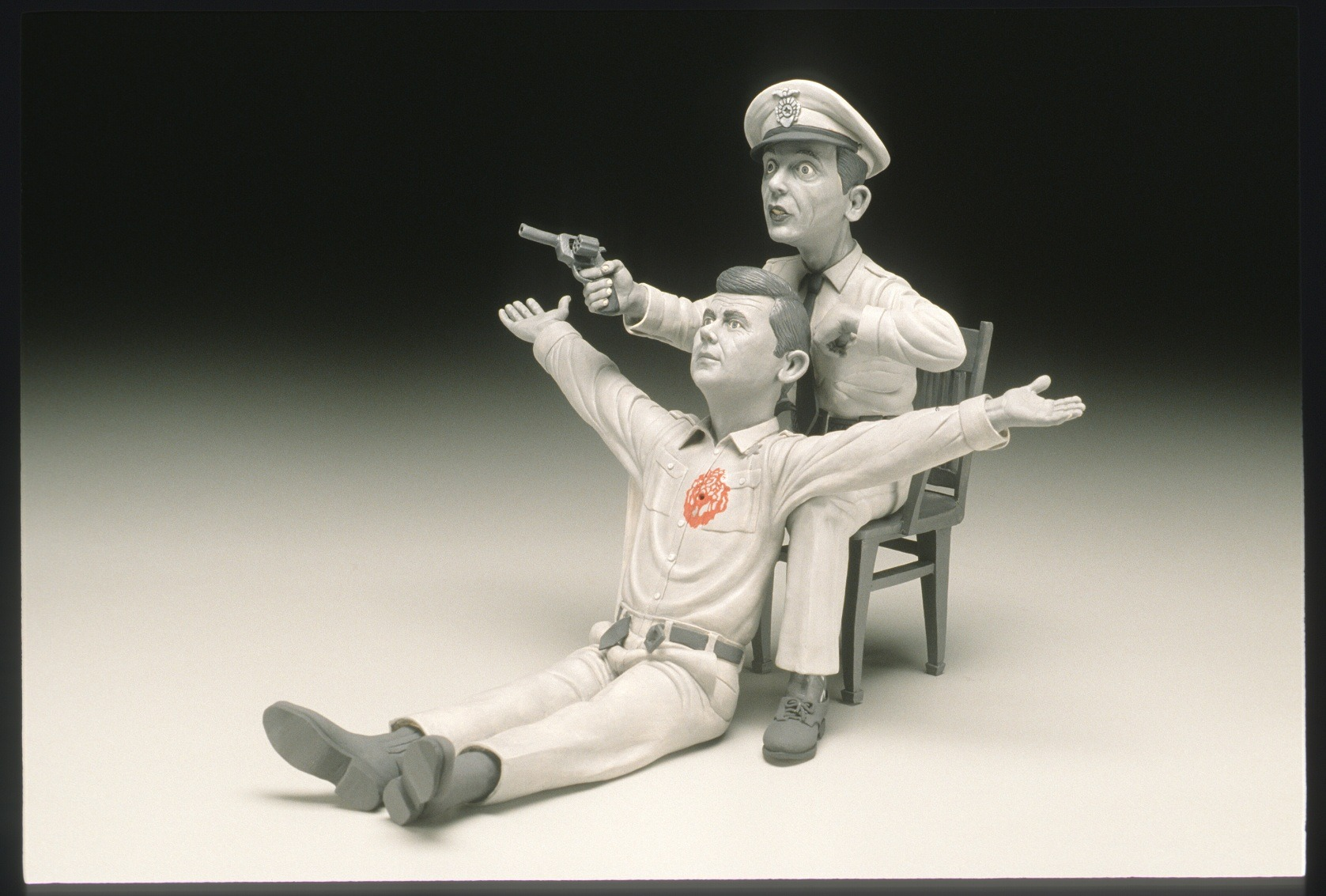 "RUSSELL BILES; "" Son of God (The Passion of Andy); 2004; hand built porcelain; h13""; photo Tim Barnwell."