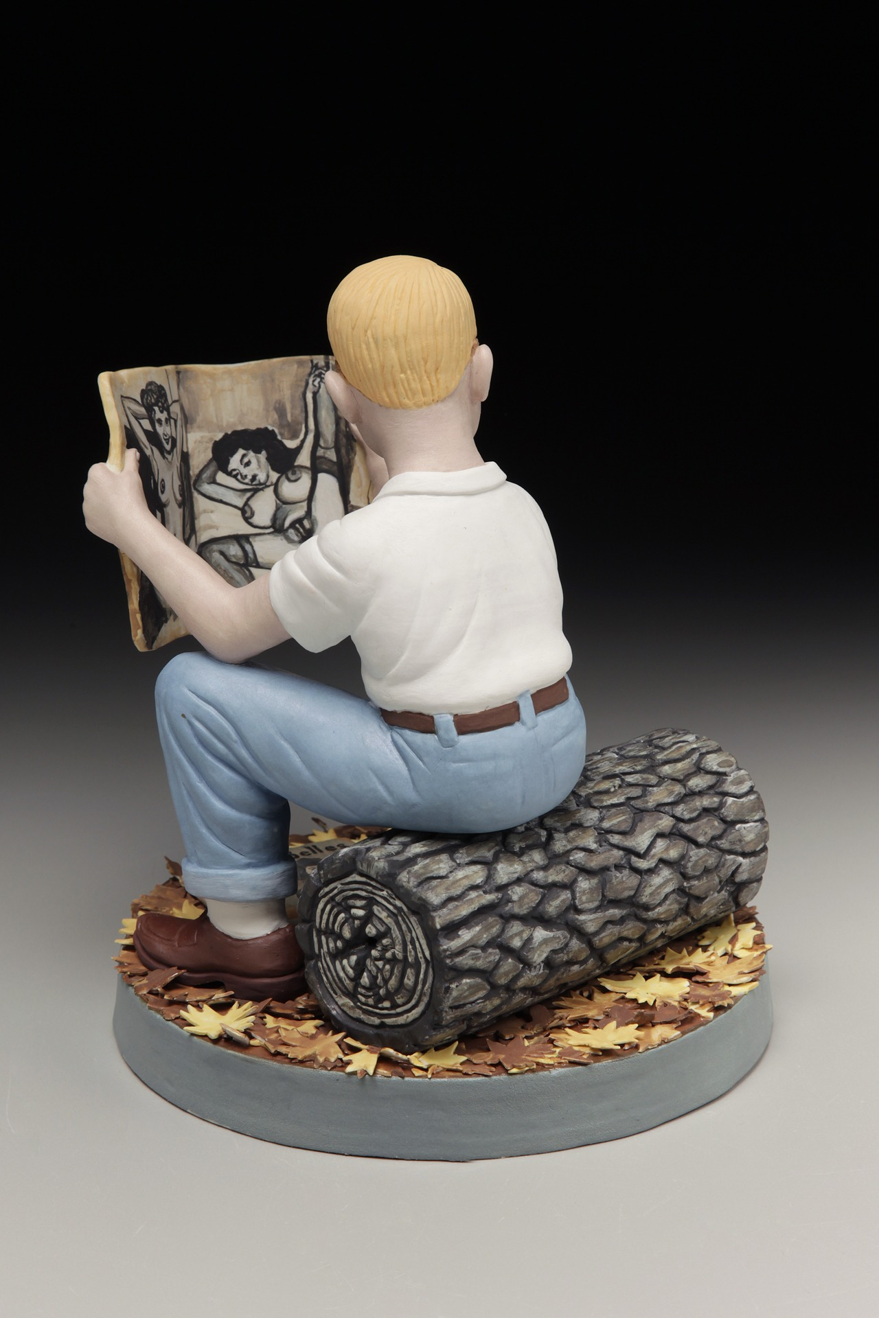 "RUSSELL BILES, ""First Pussy, 4th Grade""; 2014; handbuilt porcelain; 7""h; photo Tim Barnwell."