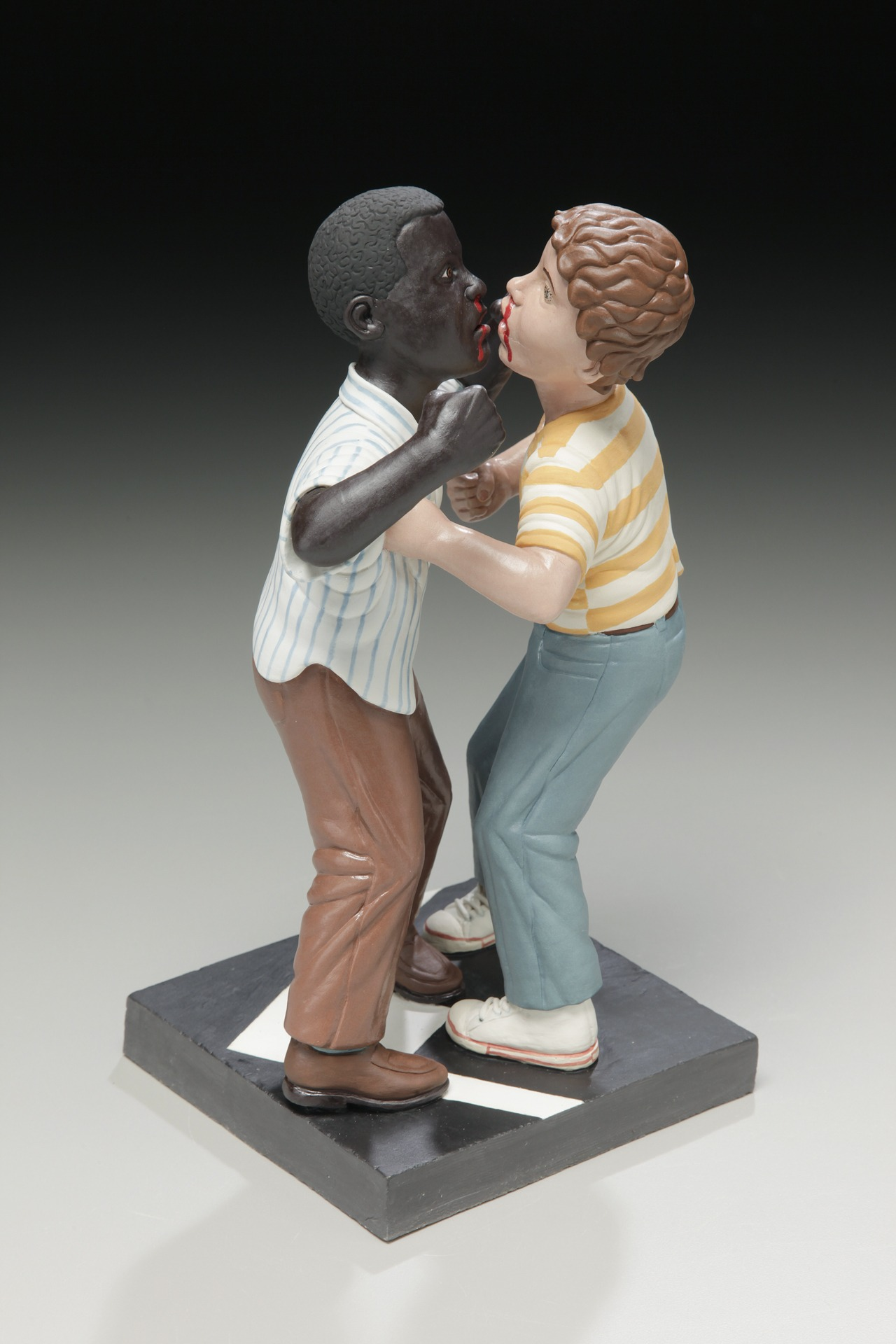 "RUSSELL BILES, ""First Pussy, 4th Grade""; 2015; handbuilt porcelain; 8""h; photo Tim Barnwell."