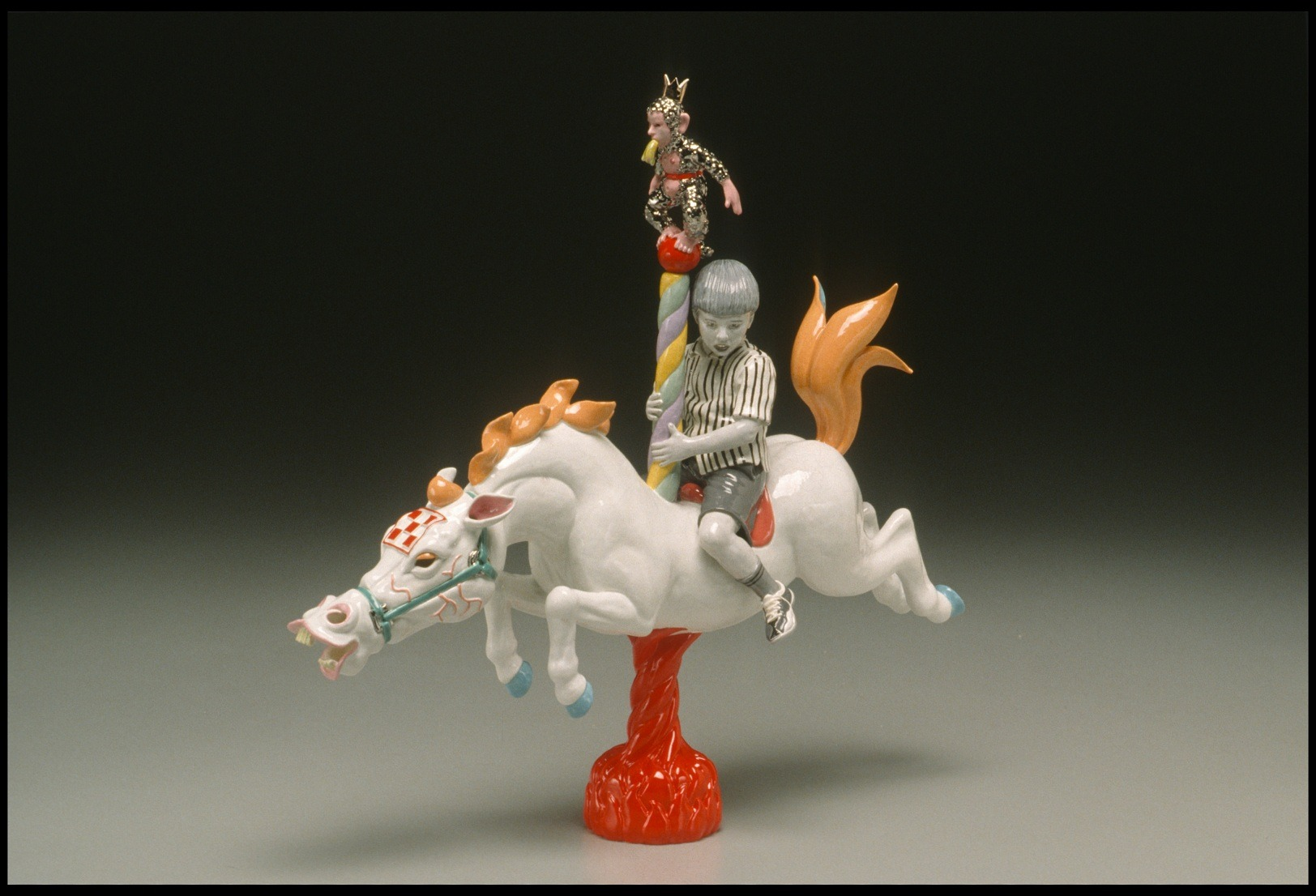 """RUSSELL BILES;""""Pride (Seven Deadly Sins)"""";2002; hand built earthenware; h11""""; photo Tim Barnwell."""