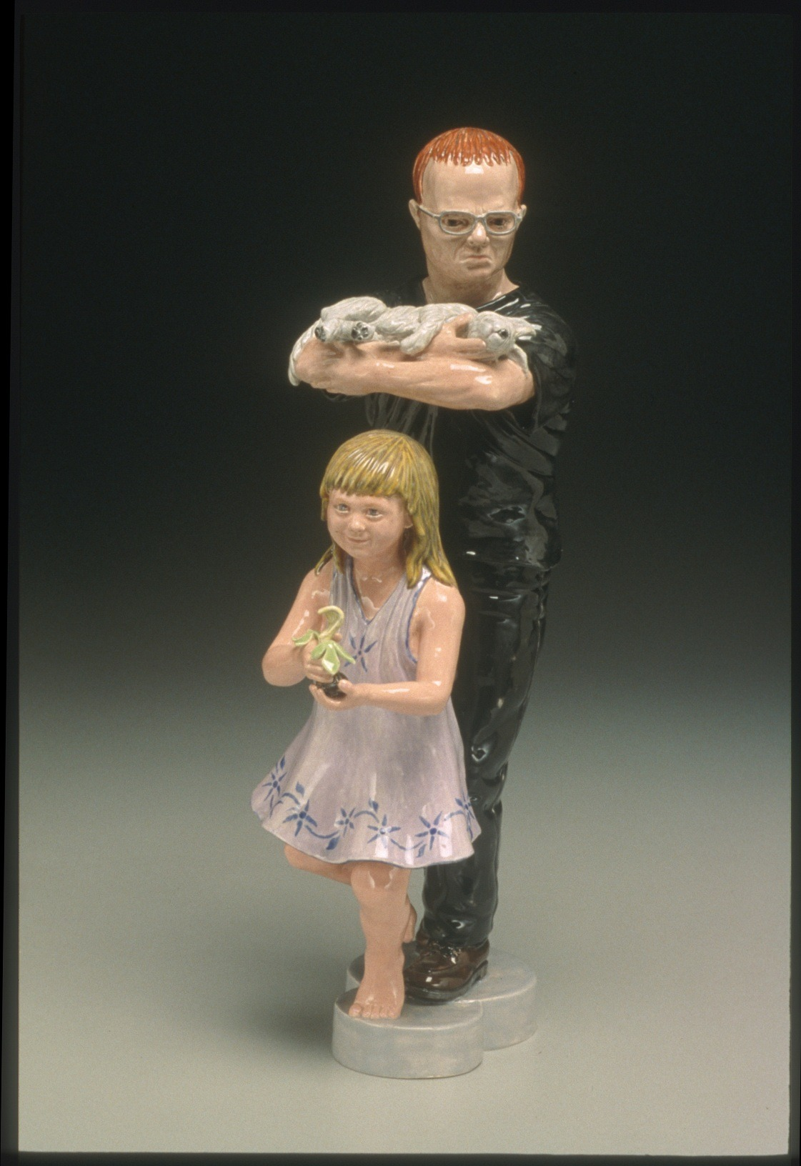 "RUSSELL BILES;""Son of a Bitch"";1998;hand built earthenware;h9"", photo Tim Barnwell."